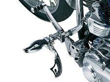 Kuryakyn 4411 Pair Front Chrome Flaming Switchblade Foot peg Set Harley Davidson