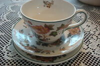 Wedgwood EASTERN FLOWERS TKD 426 TRIO cup,saucer & cake plate*