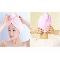 Tide Microfiber Hair Drying Turban Wrap Towel/Hat/Cap Quick Dry Dryer Bath  IO
