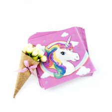20pcs unicorn napkins paper napkins baby shower happy birthday party decoration^