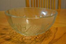"Pasari Indonesia Large 9 "" Glass Salad Serving Bowl ""Livia"" Rose Design"