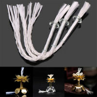 3Pcs Glass Fiber Wick With Glass Holder for Kerosen Oil Lamp Alcohol Wine Bottle