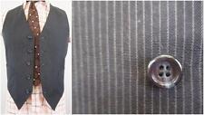 37R - Vintage 70's Mens Navy Blue Pinstripe Suit Vest Retro Mod - C221