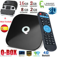 2GB+8GB/16GB 4K Android6.0 S905X Q-BOX Smart TV BOX Dual WIFI BT4.0 +Mini Tecado