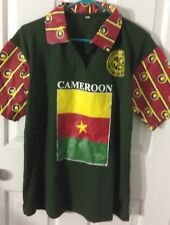 Cameroon Lions Flag Men's Shirt Amarachi Clothing Jersey Football Soccer M Fit