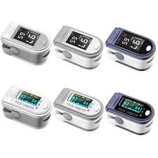 Finger Oximeter Fingertip Pulse Oximeters Blood Pressure Heart Rate Monitor OLED