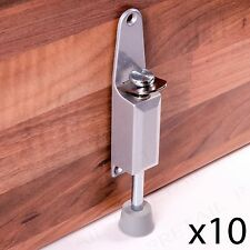 10 X Kick Down Foot Operated Door Stop Satin Aluminium Stopper Prop Stay Spring