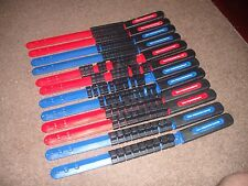 12 Piece GOLIATH TOOL Socket rail tray Organizer 1/4, 3/8, 1/2 Blue and Red