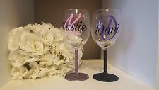 Personalised Name Glitter Wine Glass Cup