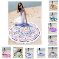 Round Beach Towel Soft Premium Quality Boho Mandala Tapestry Picnic Mat Blanket