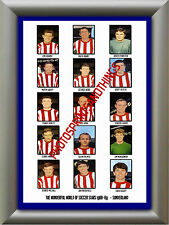 SUNDERLAND - 1968-69 - REPRO STICKERS A3 POSTER PRINT
