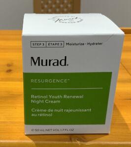 Murad Resergence Retinol Youth Renewal Night Cream 50ml New In Box