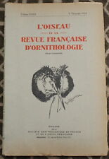 L'OISEAU et la Revue française d'Ornithologie ✤ VoL XXIII / 3è trimestre 1953