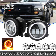 2X 4inch Led Fog Light DRL White Halo Ring for Dodge JEEP 2007 2008 FORD F-150