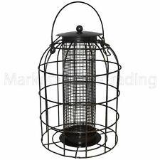 BIRD FEEDERS FOR NUTS LARGE METAL CAGE SQUIRREL RESISTANT FOR WILD BIRDS