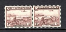 SOUTH WEST AFRICA 1937 AIR sg96 1.5d PURPLE BROWN MNH BI-LINGUAL PAIR CAT £29