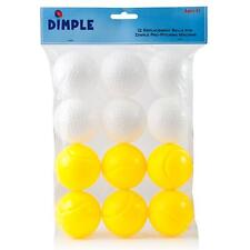 12 Pack Plastic Balls for the Power-Pro Baseball Pitching Machine by Dimple