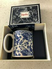 One New SPODE BLUE ROOM Chintz Bouquet Blue & White  Mug - New in Box