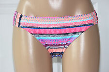 NEW California Waves Multicolor Ruched Tab Side Hipster Bikini Bottom S Small