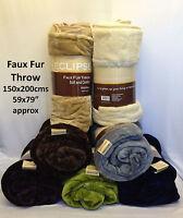 Large Faux Fur Throws Fleece Plain Blanket Mink Sofa Bed Luxury Throw Soft Warm