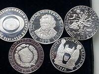 50 Schilling Silbermünzen in pp *5 STÜCK* *RAR*