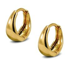 9ct Yellow Gold Filled Small Huggie Hoop Earrings Ladies Womens 9KGF BE879