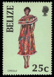 """BELIZE 801 (SG890) - Traditional Costumes """"Creole Woman"""" (pa55017)"""