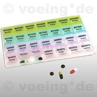 Pillendose Pillenbox Tablettendose Tablettenbox Dose für 7 Tage mit Klappöffnung