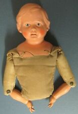 Vintage SCHILDKROT DOLL BUST Turtle Mark 10 antique toy hand made sewn clothes
