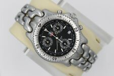 Tag Heuer Watch Mens SEL CG1110 Mint Crystal Link S/EL Chronograph S39.306 Black