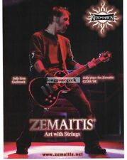 2007 ZEMAITIS GZ301/BK  Electric Guitar SULLY ERNA of Godsmack Vtg Print Ad