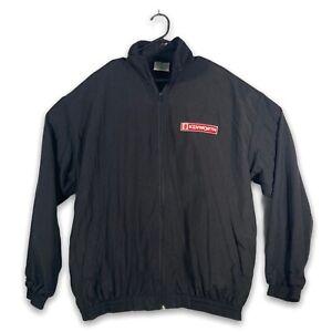 Vintage 1980's Kenworth Drivers Track Jacket Black ~ Size Large ~ Made in Aus