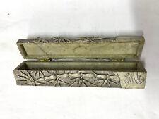 boite coffret marbre sculpté xix siecle xx stylo bijoux collier bague sculpture