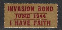 1944 World War II Invasion Savings Bond Promotional Stamp