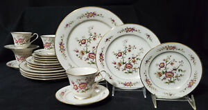 21 pc NORITAKE Dinnerware Set ASIAN SONG Service / 4 Porcelain China IVORY plate