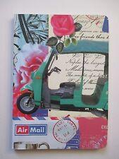 f TUK TUK travel c NOTEBOOK Journal blank poetry diary book 80 pg Roger la Borde