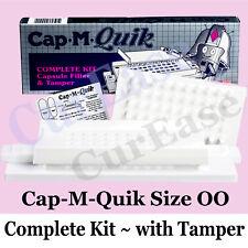 Cap M Quik + Tamper size 00 Capsule Filler Complete Kit CapMQuik Capsule Machine