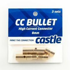 Castle Creations 8mm Bullet Connectors High Current 8mm/tppower/posiddien/motor