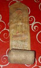 Ethiopia Ge'ez Coptic Christian magic healing scroll antique vellum leather