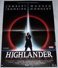 HiGHLANDER II Christopher Lambert Katana Immortals Fantasy SMALL French POSTER