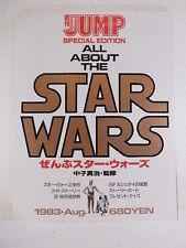 Rare Photo Book Magazine ALL ABOUT THE STAR WARS w/Poster EMPIRE JEDI 1983 Japan