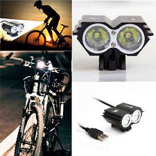 Solar Storm 8000LM X2 CREE XM-L T6 USB Waterproof Lamp LED Bicycle Headlight FS