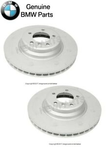 For BMW E90 335d 335i Pair Set of Front Left & Right Vented Disc Rotors Genuine