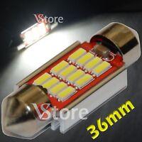 2 LED Siluro 36mm 12 SMD 4014 Canbus Xenon Lampade Luci BIANCO Interno Targa 5W