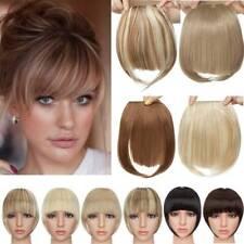 100% Natural Thin Bangs Fringe Clip in Hair Extensions As Human Front Bang Hair