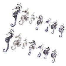 14pcs/Lots Retro Style Silver Alloy Cute Sea Horse Charms Pendant Jewelry Crafts