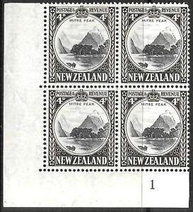 NEW ZEALAND 1936 4d P.14*13 1/3 multi watermark Pl.2 blok.4, UM. SG583.