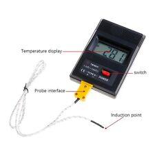 TM-902C LCD Digital K Typ Thermometer Innen Außen Hygrometer Außenfühler