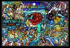 Tenyo 500-piece Jigsaw Puzzle Little Mermaid Story Stained Glass Tightly Series