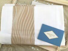 """FRETTE ITALY KING SHAM Sandglass Bordo Beige Ivory 100% Cotton 21""""x37"""" NEW $160"""